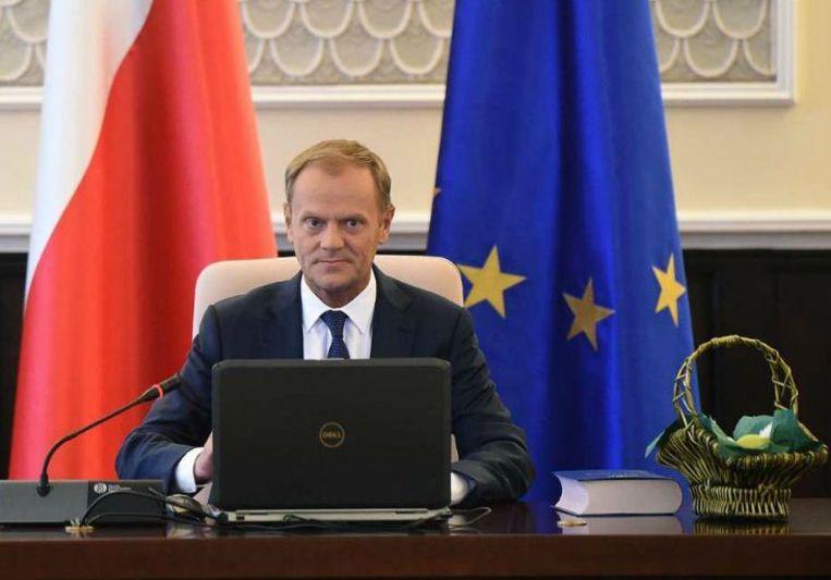 Ex-premier Donald Tusk (Polen) Beeld epa