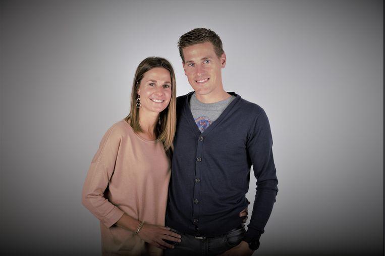 Niels Van Doorne en zijn vriendin Elien, die zeven maanden zwanger is.
