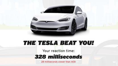 Reageer jij sneller dan de noodrem van een Tesla? Test het hier!