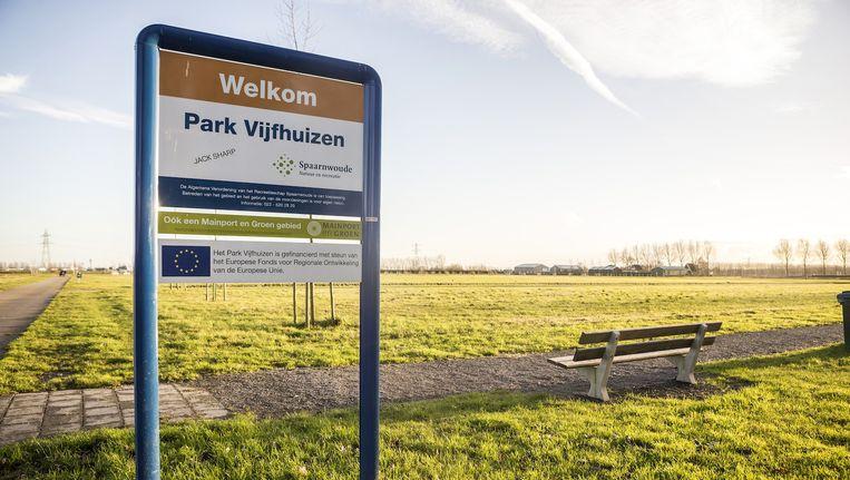 De locatie nabij Schiphol waar het monument moet komen Beeld anp