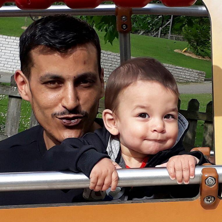 Ibrahim met zijn vader