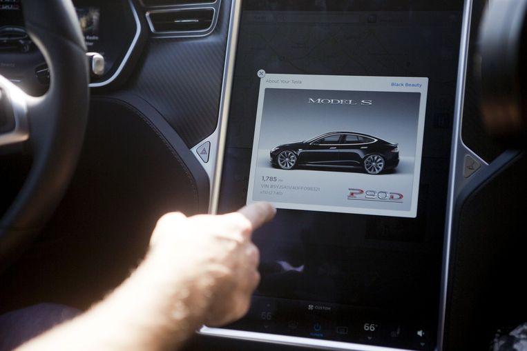 Het 'Model S' met de Autopilot van Tesla. Beeld Reuters