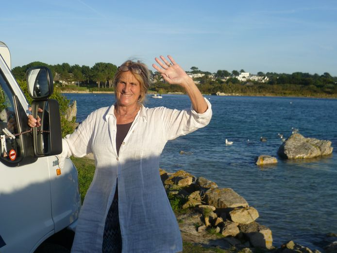 Irene Victoria Beeftink, op vakantie met de camper in Bretagne, oktober 2015.