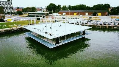 Kudde floating farm is nog niet compleet
