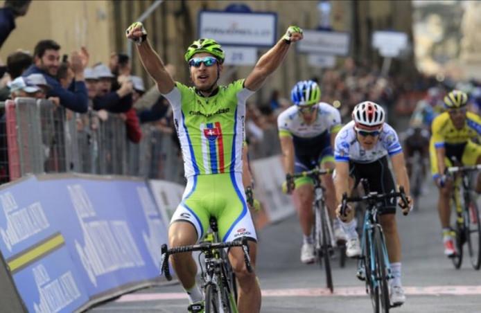 Sagan wint met lengtes de tweede rit in Tirreno-Adriatico 2014.