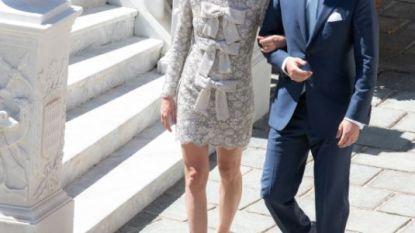 Wat een sobere bedoening: Charlotte Casiraghi, kleindochter van Grace Kelly, trouwt in grijs jurkje