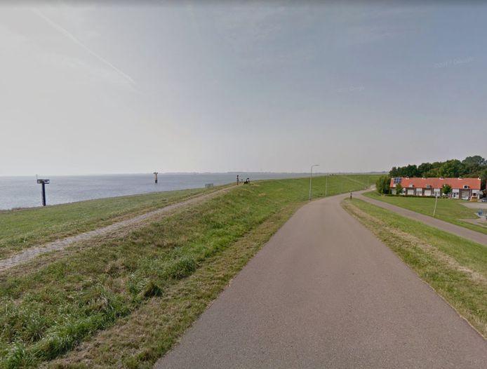De dijk bij Hansweert.