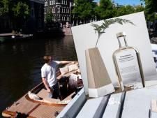 De l'eau potable provenant des canaux d'Amsterdam en vente au prix de 39 euros la bouteille