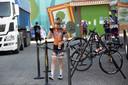Anna van der Breggen na de Spaanse wielerkoers Emakumeen Nafarroako Klasikoa.