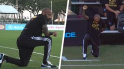 Krachtig gebaar: Thierry Henry knielt 8 minuten en 46 seconden tijdens match om Black Lives Matter-acties te steunen