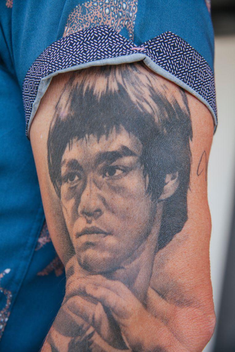 De  getatoeëerde bovenarm van Alex Boogers. Beeld Jonnie Chambers