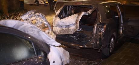 Twee auto's zwaar beschadigd door brand in Den Bosch
