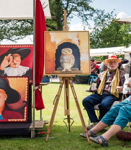 Streep door Kunst in het Volkspark in Enschede vanwege coronacrisis