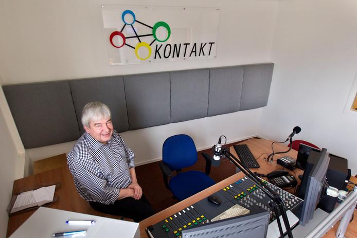 Adri Vogels, voorzitter van de Radio Kontakt Laarbeek