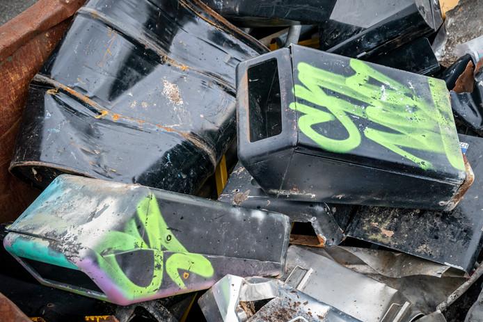 Vooral vuilnisbakken moesten het ontgelden tijdens de jaarwisseling. (foto ter illustratie)
