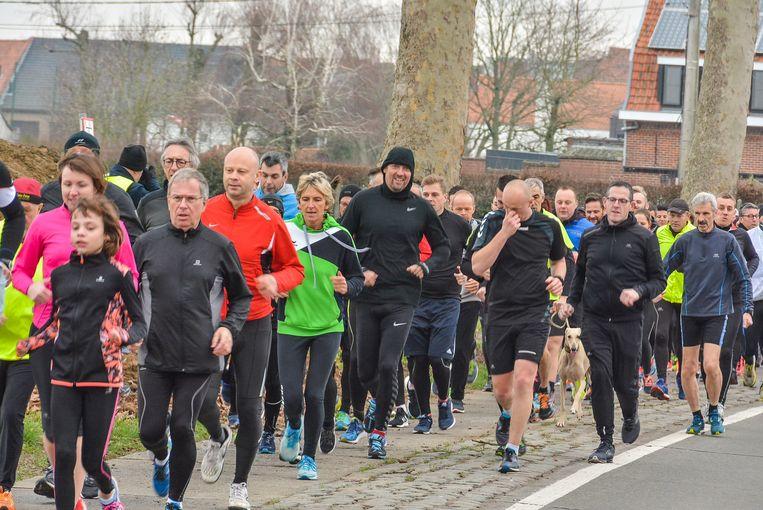 De jogging ging richting Wervik-Kruiseke.