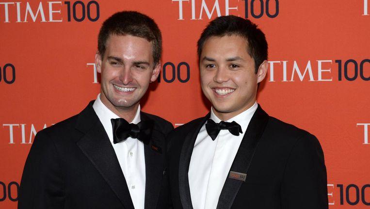 Snapchat-oprichters Evan Spiegel en Bobby Murphy. Beeld null