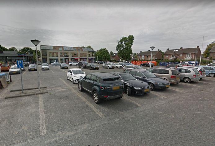 De parkeerplaats waar het gebeurde