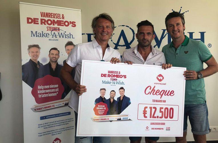 De Romeo's schenken 12.500 euro aan Make-A-Wish