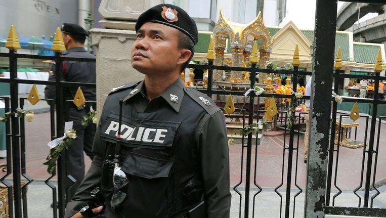 De politie is alert na de zware aanslag in Bangkok.