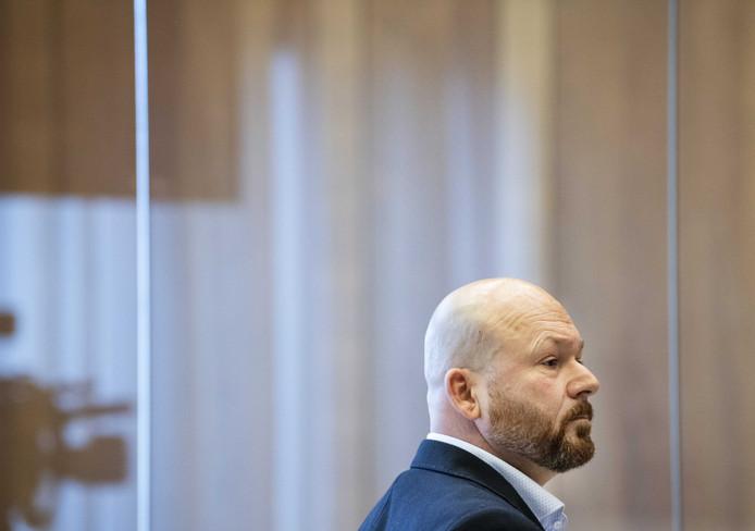 Marco Kroon in de rechtbank. De drager van de Militaire Willems-Orde wordt veroordeeld tot 100 uur taakstraf voor het met opzet uitdelen van een kopstoot tijdens zijn aanhouding door de politie tijdens carnaval in Den Bosch op 3 maart.