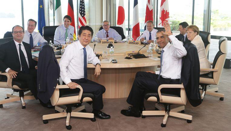 Que faire lors d'un sommet du G7 où vous ne connaissez personne? | De Volkskrant