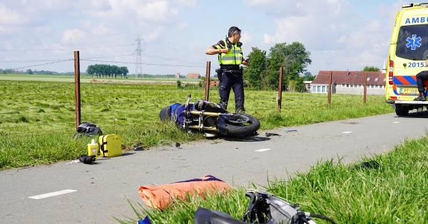 Traumaheli onderweg na ongeval met fietser en vrachtwagen in Kampen.