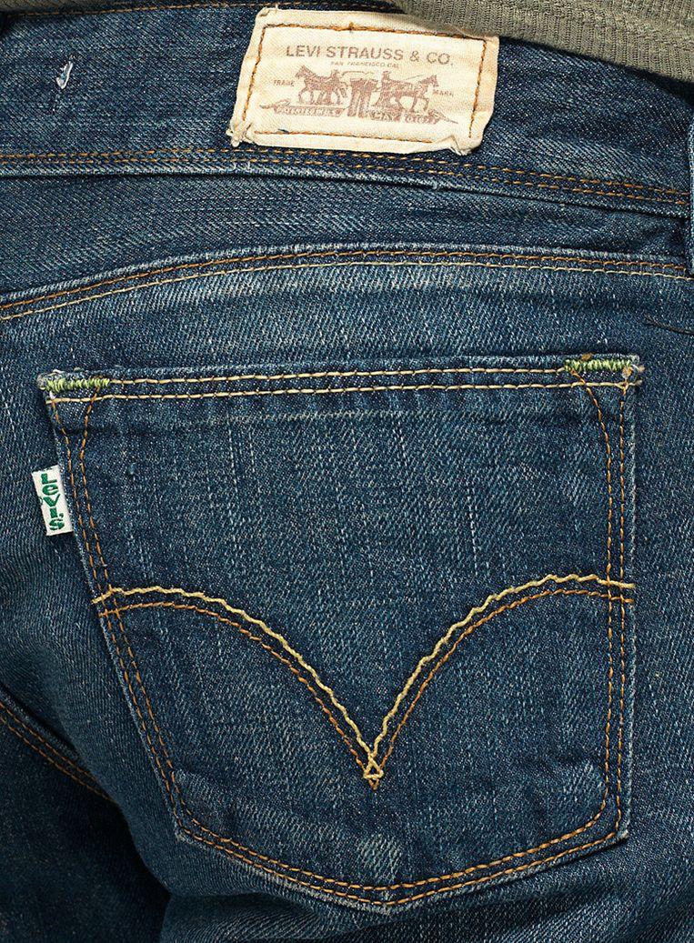 De typische broekzak van een Levi's-jeans.