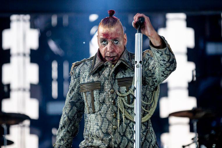 Till Lindemann, frontman van Rammstein.