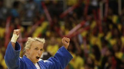 Charline Van Snick verovert goud in GP Den Haag, Mina Libeer grijpt naast brons