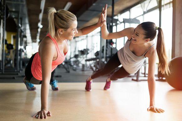 Sportende vrouwen.