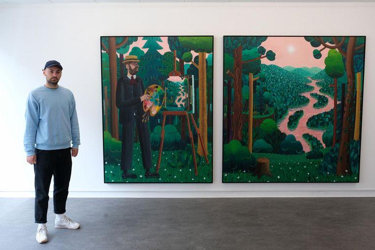 Kunstenaar Ben Sledsens stelt tentoon in de Tim Van Laere Gallery.