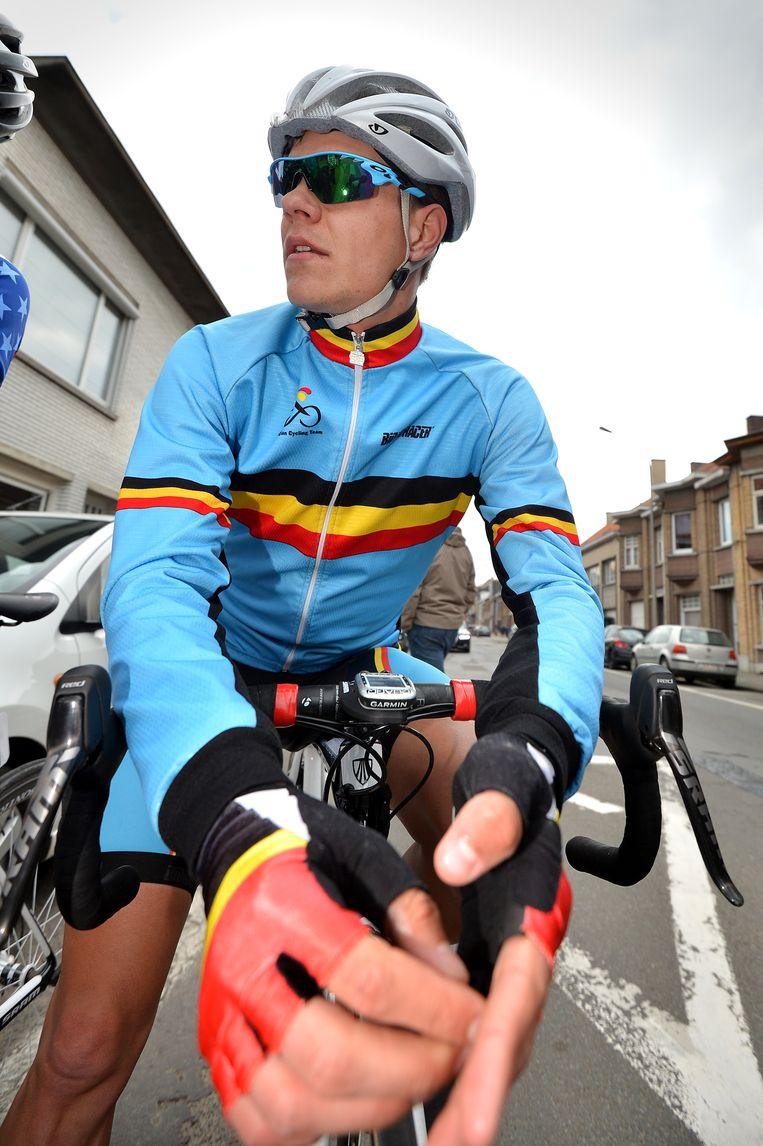Jasper Stuyven rijdt nu al voor de opleidingsploeg van zijn toekomstig team. Beeld belga