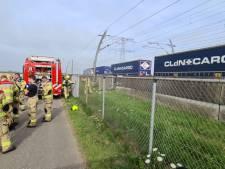Brandweer rukt uit voor defecte goederentrein