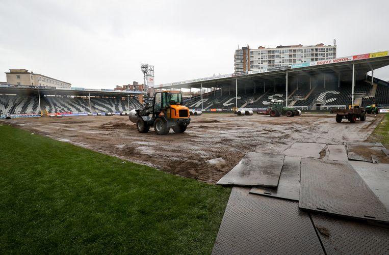 Hoe het veld van Charleroi er gisteren bijlag.