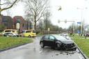 De ravage na de aanrijding in Nieuwegein waarbij de 8-jarige Milan om het leven kwam.