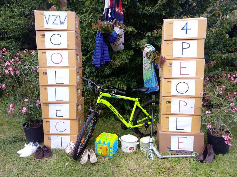 De vzw collect4people kon al heel wat speelgoed inzamelen.