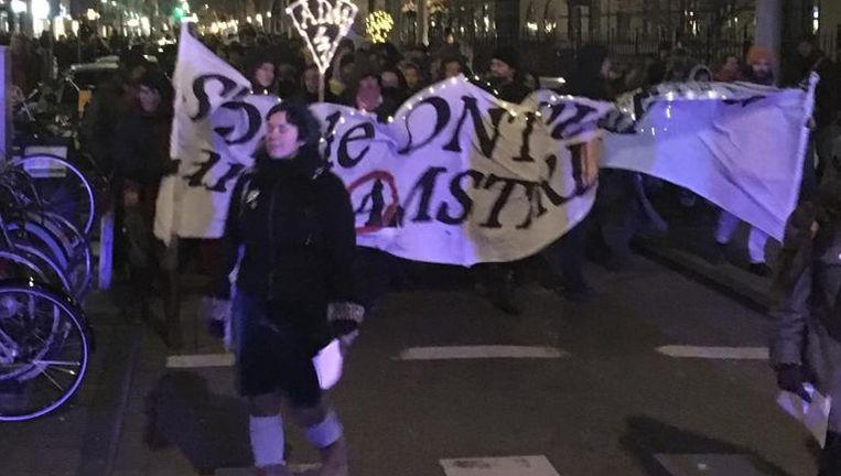 De demonstranten Beeld Het Parool
