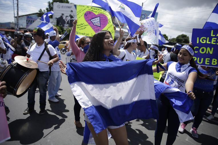 Protest in Nicaragua Beeld EPA