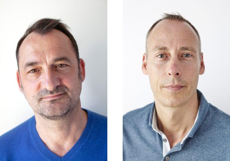 Christiaan (links) en Marco, vaders van Kai. Beeld Mascha Jansen