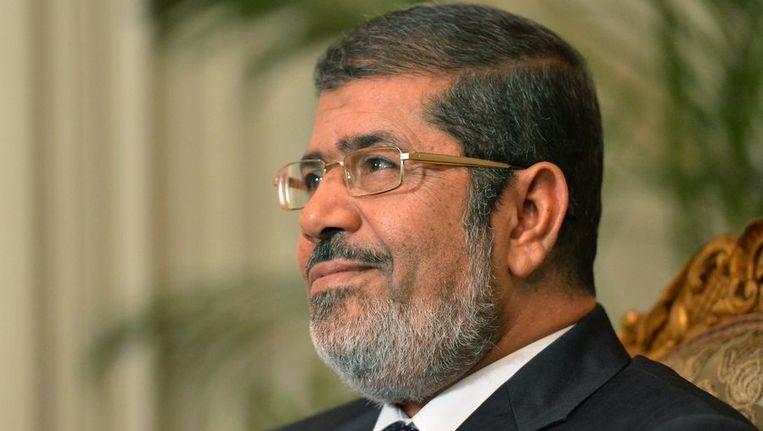 De Egyptische president Mohamed Morsi Beeld afp