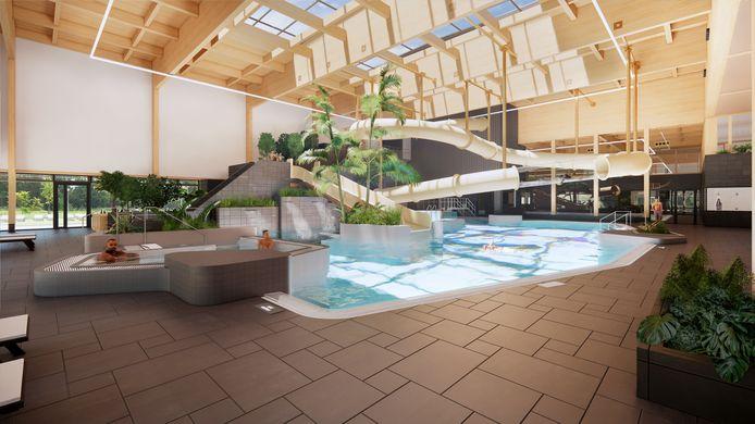 Zo komt het recreatiebad in het nieuwe zwembad eruit te zien.