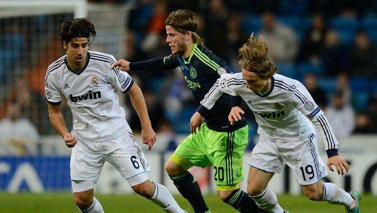 Lasse Schöne in actie tegen Real Madrid in 2012. Beeld ANP