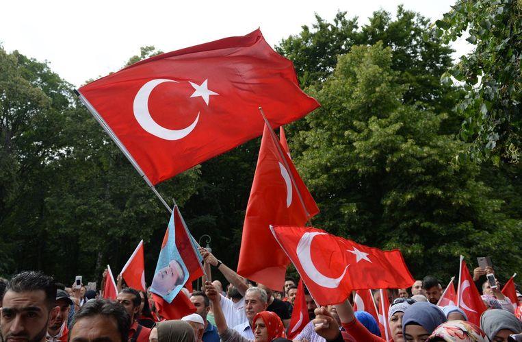 Demonstratie tegen de coup. Beeld epa
