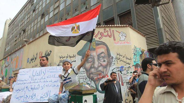 Demonstranten in Caïro. Beeld afp