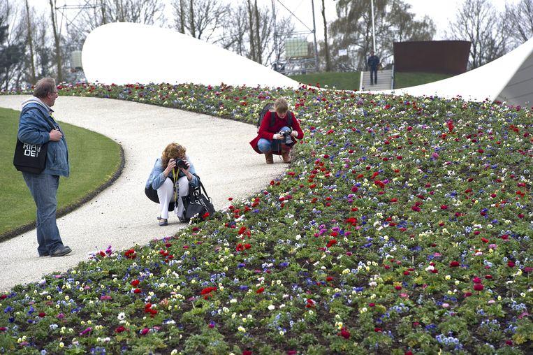 De vorige editie van de Floriade, in Venlo. De wereldtuinbouwtentoonstelling vindt eens in de 10 jaar plaats in Nederland.  Beeld ANP