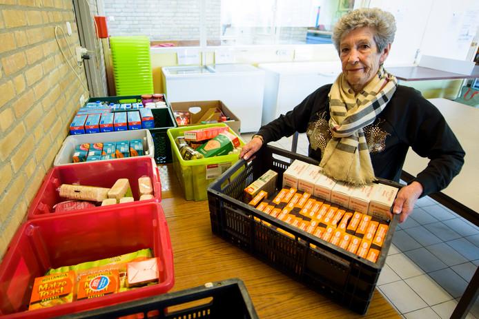 Bet de Kort, oprichtster van voedselbank De Boodschappenmand in Valkenswaard.