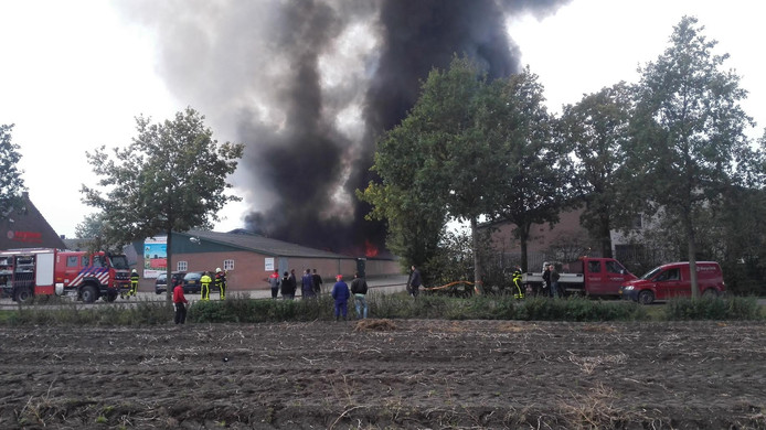 Brand in opslagloods in Haghorst.