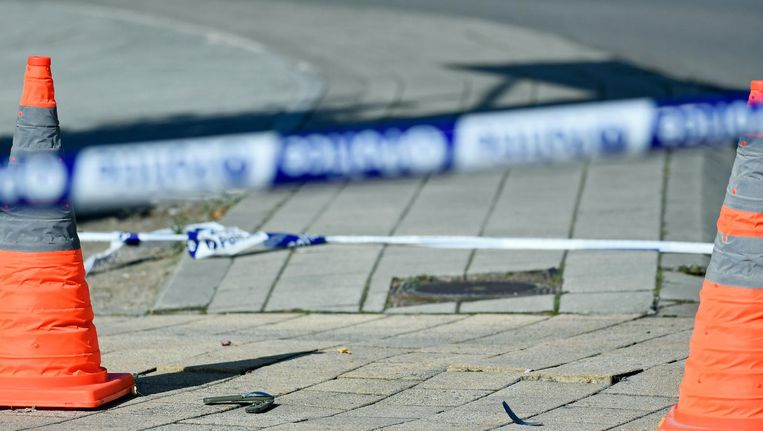 Plaats in Schaarbeek waar de agenten werden aangevallen. Beeld anp