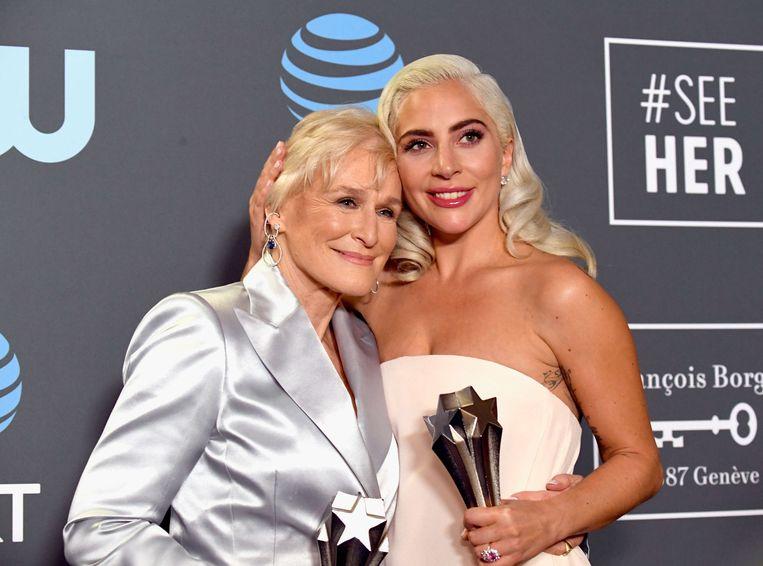 Glenn Close en Lady Gaga wonnen allebei de Critics Choice Award voor 'Beste Actrice'.